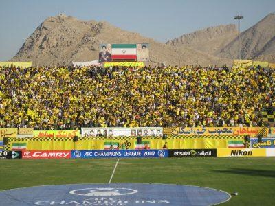真っ黄色に染まったスタジアム