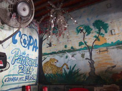 パンタナールを描いた店内の壁画