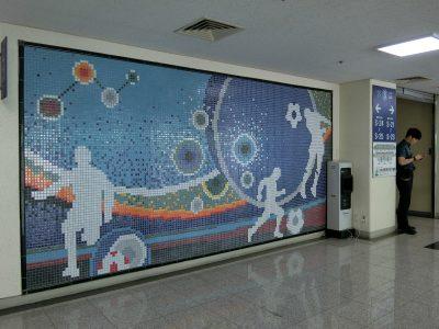 大田スタジアムのタイル画