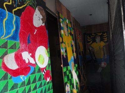 倉庫のセレソン看板