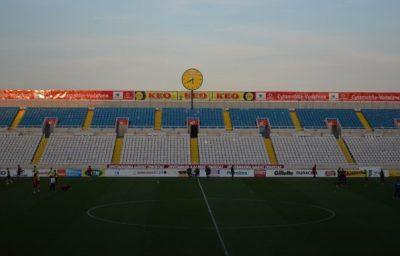 キプロススタジアムの時計