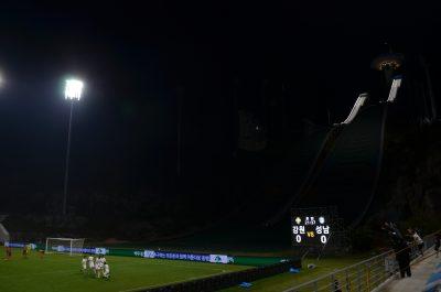 平昌アルペンシアでゴールが決まる
