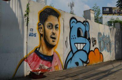 バンコク市街のエジル壁画