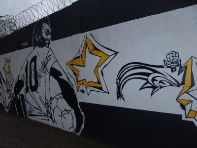 サントス練習場のペレの壁画