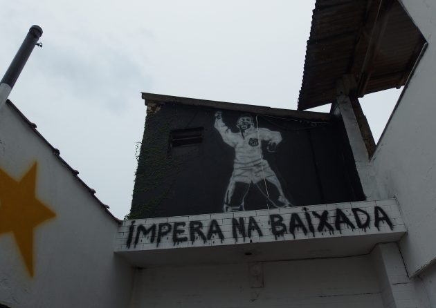 サントスのペレの壁画