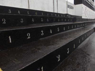 サントススタジアムの階段
