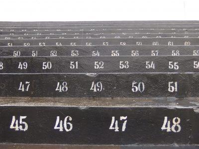 サントススタジアムの黒階段