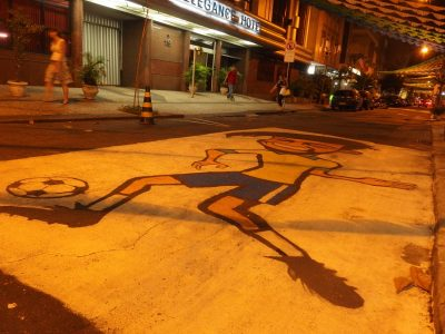 ネイマールの路上壁画