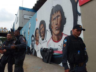 マラカナン駅の壁画