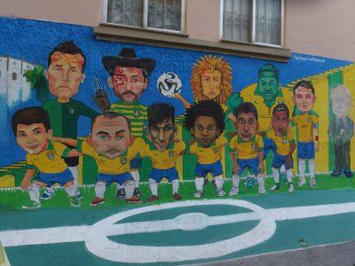 2014年のブラジル代表壁画