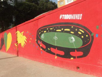 ブラジルのスタジアムはタンバリンのよう。